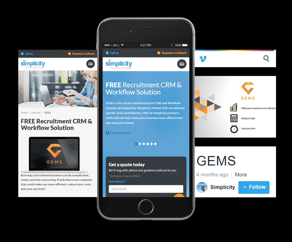 simplicity responsive website