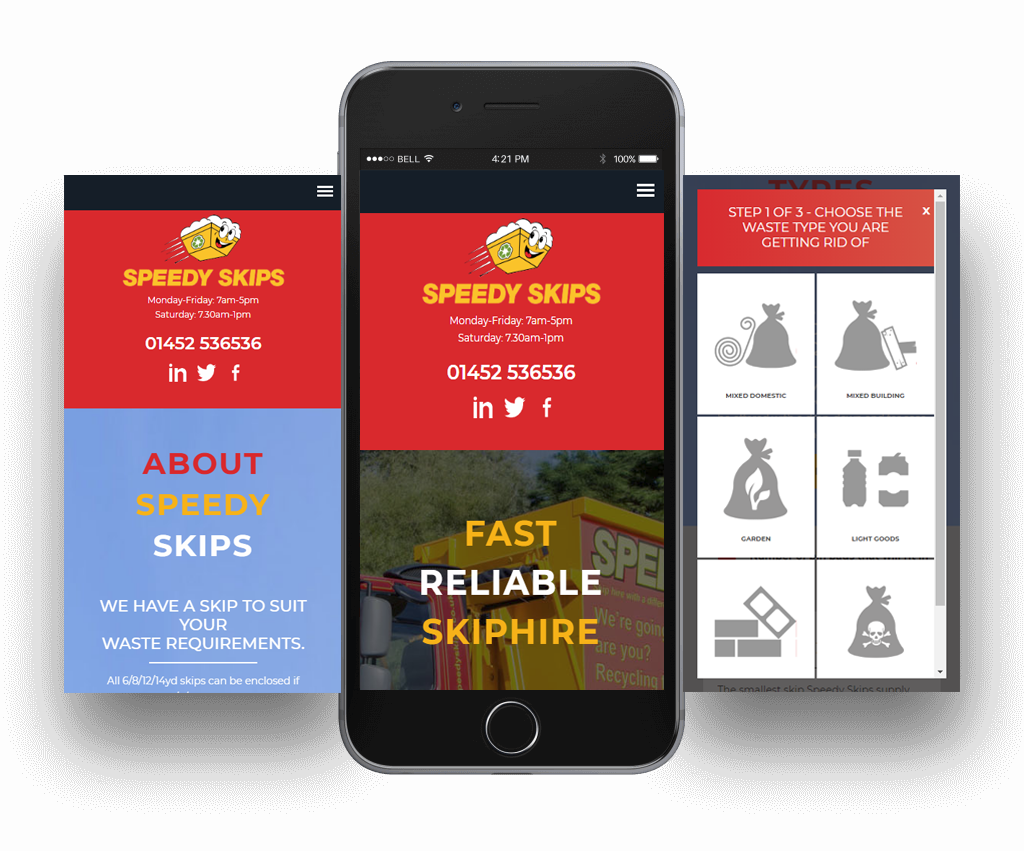 speedy skips responsive website