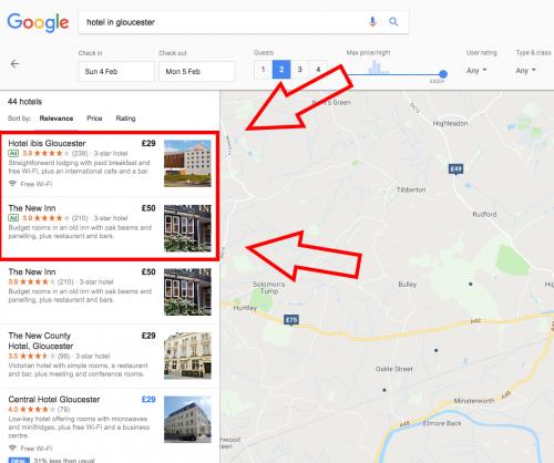 hotel google maps