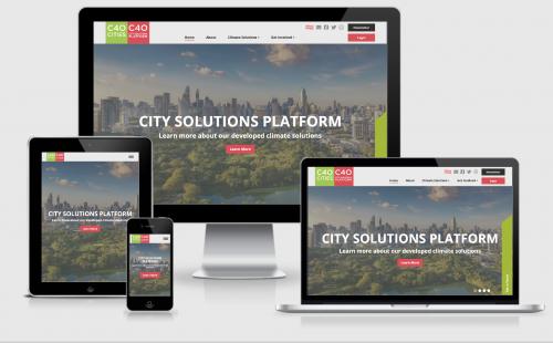 C40 Cities Website MocUp