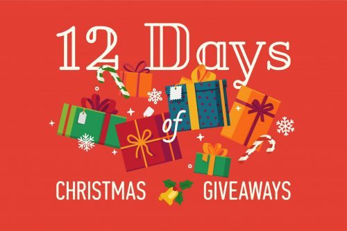 red 12 days of Christmas giveaway social media post.