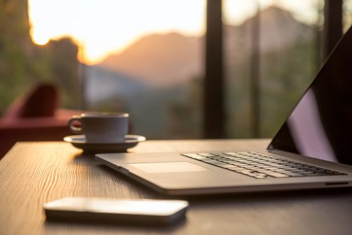 Laptop, Phone and Coffee Cup - The Right Technologies