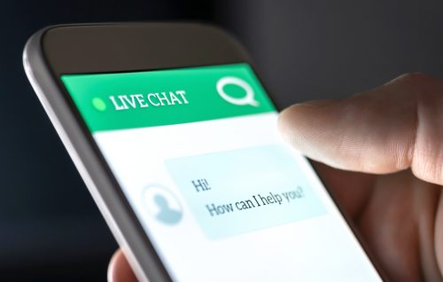 Communicate with Customers via Live Chat
