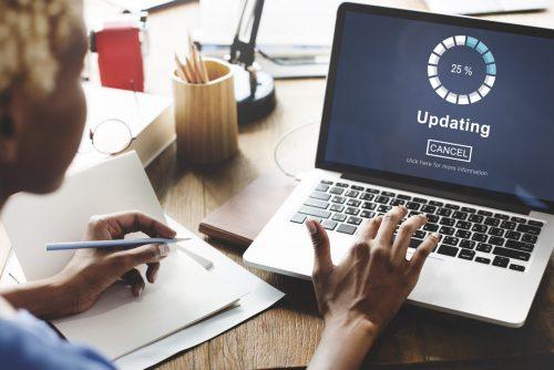 Website updating messaging
