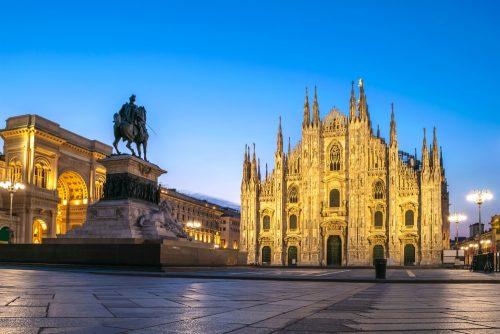 Milan Italy in lockdown