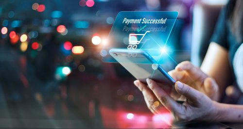 Online shopping payment successful notification