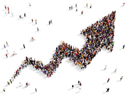 population arrow