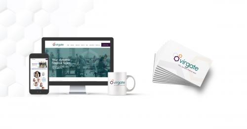 website, mug and business cards